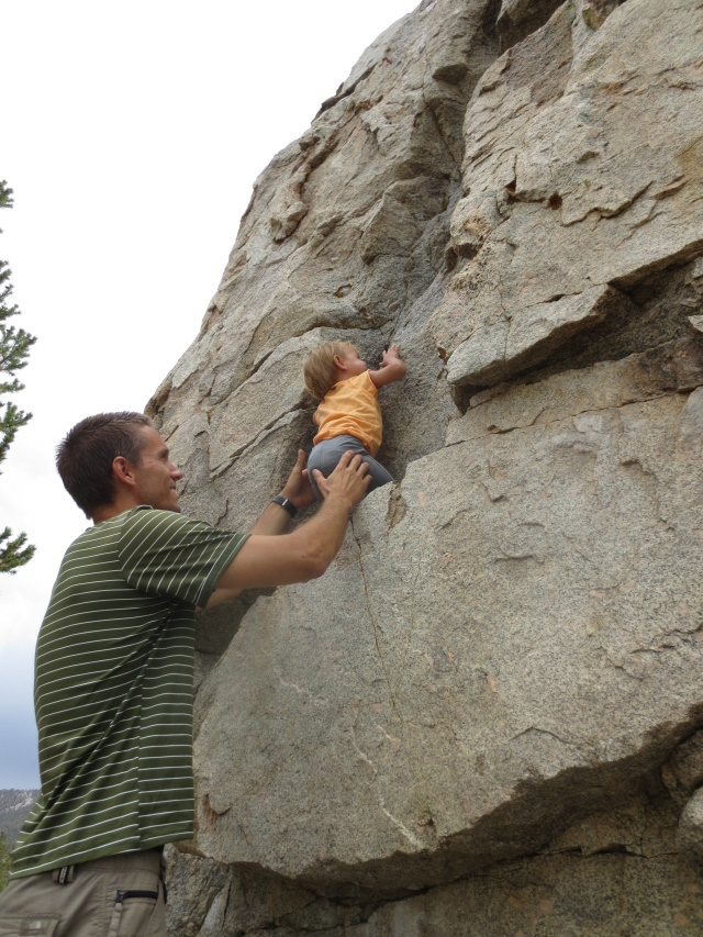 Rock climbing is in her genes